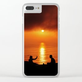 Pacific Sunset Clear iPhone Case