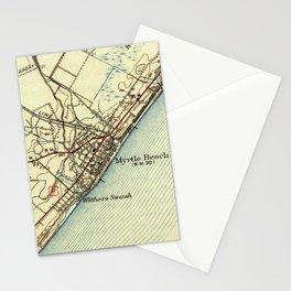 Vintage Map of Myrtle Beach South Carolina (1940) Stationery Cards