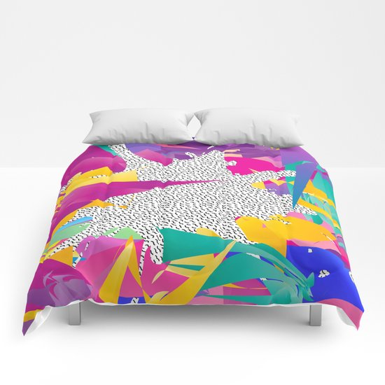 80s Abstract Comforters