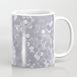 Lilac Gray Polka Dot Bubbles Coffee Mug