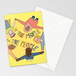 by the people, for the people Stationery Cards