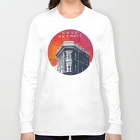 detroit Long Sleeve T-shirts featuring Save Detroit by The Mighty Mitten - Great Lakes Art