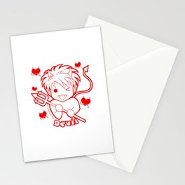 Kawaii Kiddies Cute Devil Stationery Cards