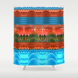 Surreal Flowing Landscape Print Shower Curtain