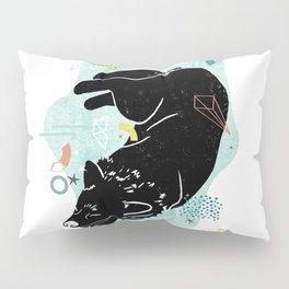 Dreaming wolf illustration Pillow Sham