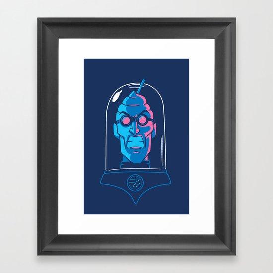 Mr. Brain Freeze Framed Art Print