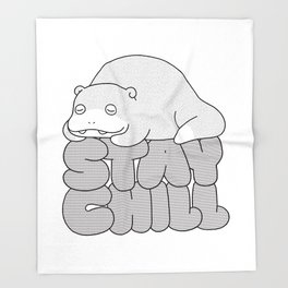 Stay Chill Throw Blanket