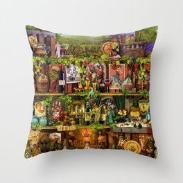 The Poetry of Wine Throw Pillow