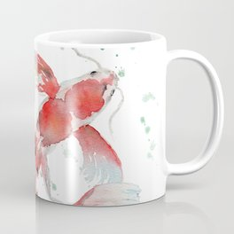 """Watercolor Painting of Picture """"Koi Pond"""" Coffee Mug"""