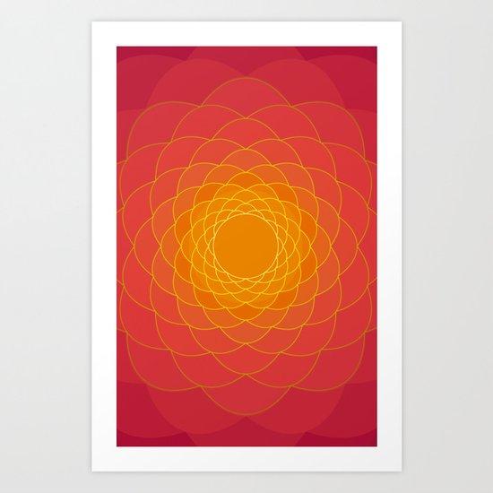 Oriental Background Art Print