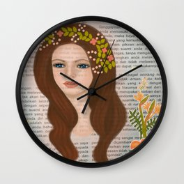 The Girl 1 Wall Clock