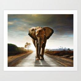 The Elephant Art Print