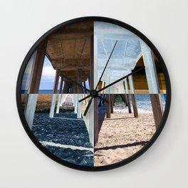 Quadrants of An Ocean Pier Wall Clock