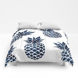 Pineapple Blue Denim Comforters