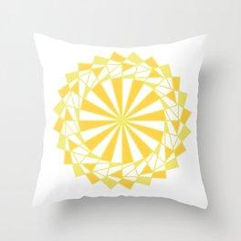 Orange Rays Throw Pillow