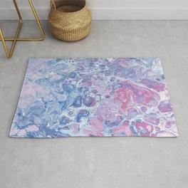 Suminagashi Japanese Paper Marbling Art Rug