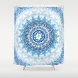 Mandala Day at the beach Shower Curtain