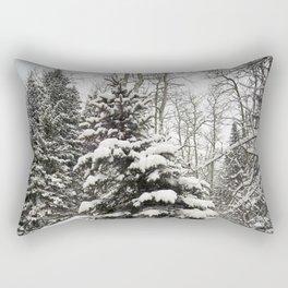 Carol M Highsmith - Snowy Pine Trees Rectangular Pillow