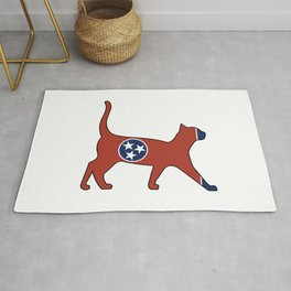 State of Tennessee Flag for Cat Lovers Rug