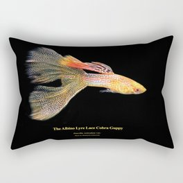 Albino Lyre Lace Cobra Guppy Rectangular Pillow