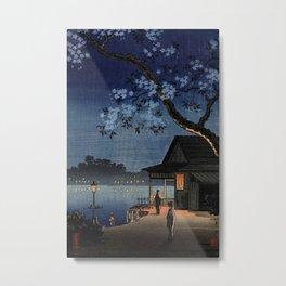 Takeya Ferry Crossing By Tsuchiya Koitsu Metal Print