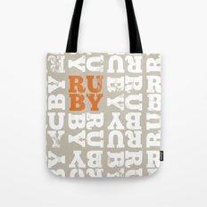 Ruby cushion 01 Tote Bag