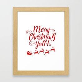 MERRY CHRISTMAS YALL Framed Art Print