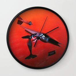 Swim Artwork Wall Clock