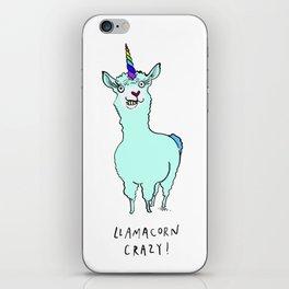 Llamacorn Crazy iPhone Skin