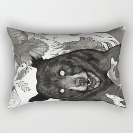 Bear, wolf, pike and falcon Rectangular Pillow