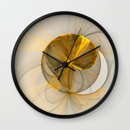 Chaotic Elegance, Abstract Fractal Art Wall Clock