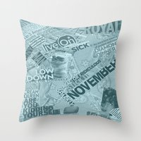 college Throw Pillows featuring college  by MadCat