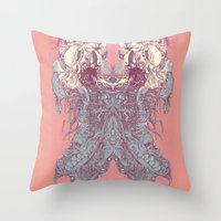 insect Throw Pillows featuring insect by Maethawee Chiraphong