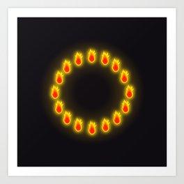 Burnin' Ring-O-Fire Art Print