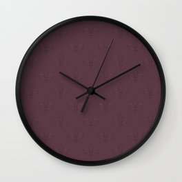 Relief royal lilies Wall Clock