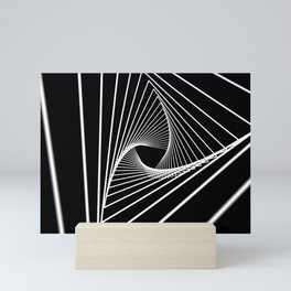Hypnotic monochrome tunnel. Mini Art Print