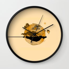 Eskisehir and Invisible World Wall Clock