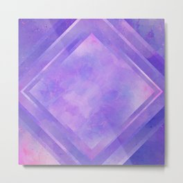 Mosaic Tile // Violet Watercolour Metal Print