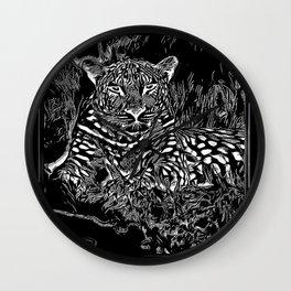 Big Cat Models: Leopard Laze 01-02 Wall Clock