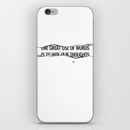 Use of Words iPhone Skin