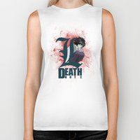 death note Biker Tanks featuring Death Note by feimyconcepts05