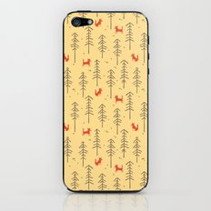 Fox hiding in the forest iPhone & iPod Skin
