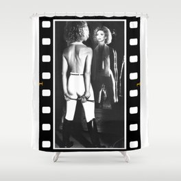 Olivia Newton-John  - Soul Kiss - Helmut Newton - 1985 Shower Curtain
