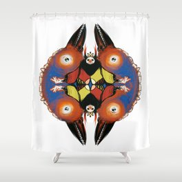 Birdking (Color) Shower Curtain