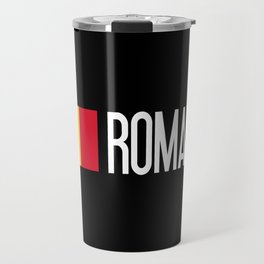 Romania: Romanian Flag & Romania Travel Mug