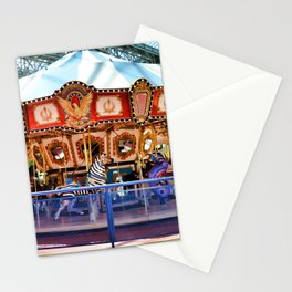 Carousel inside the Mall Stationery Cards