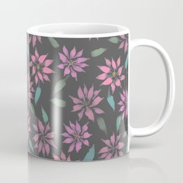 Dark Winter Floral Coffee Mug