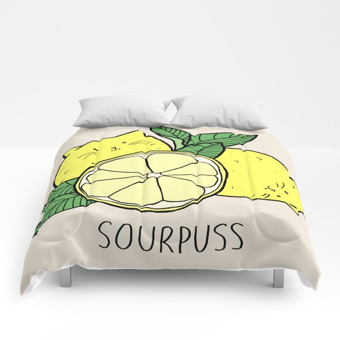 Sourpuss (colourised) Comforters