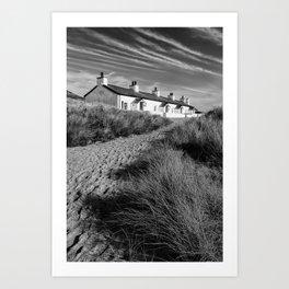 Pilots Cottages  Art Print
