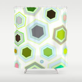 Hexa Deal Shower Curtain